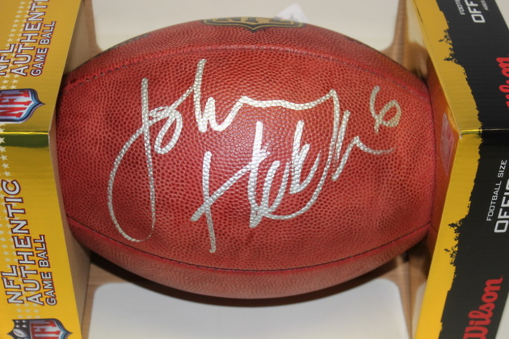 NFL - RAMS JOHNNY HEKKER SIGNED AUTHENTIC FOOTBALL
