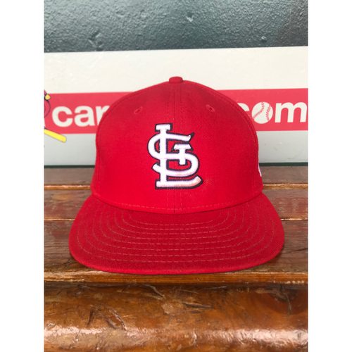 Photo of Cardinals Authentics: Game Worn Jedd Gyorko Home Red Cap