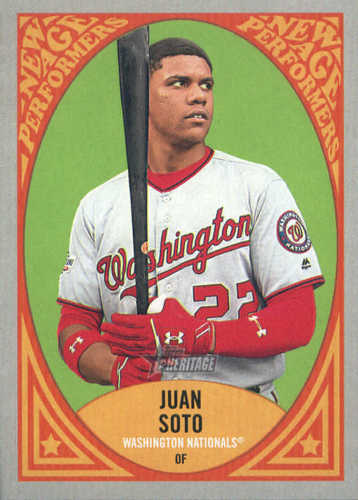 Photo of 2019 Topps Heritage New Age Performers #NAP15 Juan Soto