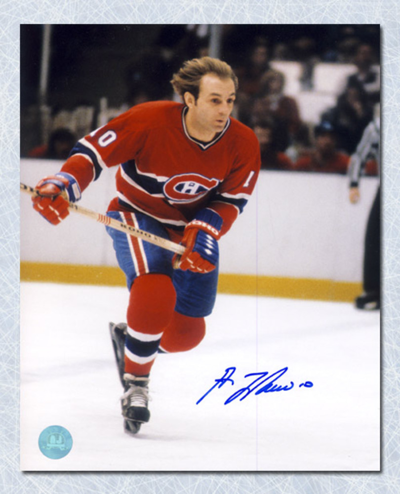 Guy LaFleur Montreal Canadiens Autographed Flowing Hair 8x10 Photo