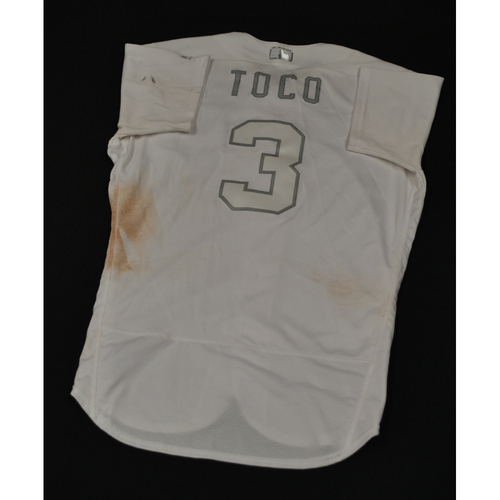 "Photo of Freddy ""TOCO"" Galvis Cincinnati Reds Game-Used 2019 Players' Weekend Jersey"