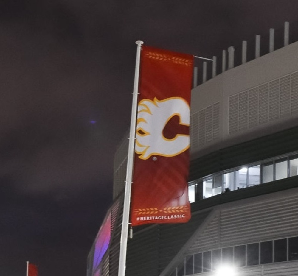 2019 NHL Heritage Classic Banner - Calgary Flames