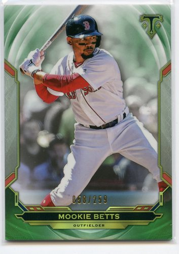 Photo of 2019 Topps Triple Threads Emerald #86 Mookie Betts 058/259