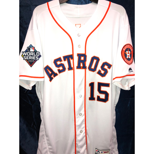 Photo of Don Kelly Team-Issued 2019 World Series Home White Jersey (Size 48)