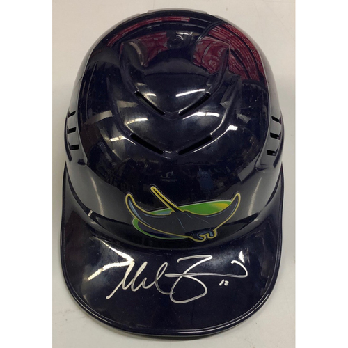 Photo of Team Issued Autographed Devil Rays Catcher Helmet: Mike Zunino