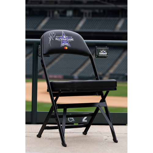 Photo of 2021 Celebrity Softball Game Autographed On Field Chair - Hunter Pence