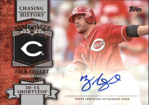 Photo of 2013 Topps Chasing History Autographs #ZC Zack Cozart S2