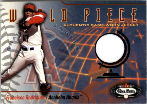 Photo of 2003 Fleer Box Score World Piece Game Jersey #FR Francisco Rodriguez SP/100
