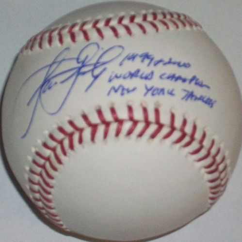 "Photo of Jason Grimsley ""99 & 00 World Champion New York Yankees"" Autographed Baseball"