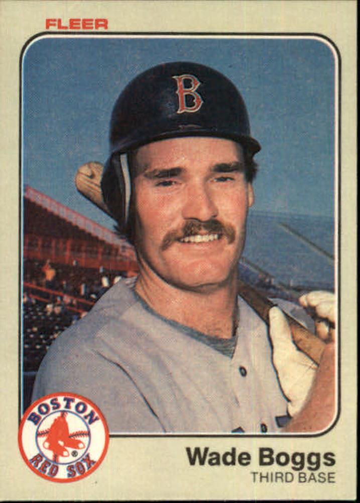 1983 Fleer #179 Wade Boggs Rookie Card -- Hall of Famer