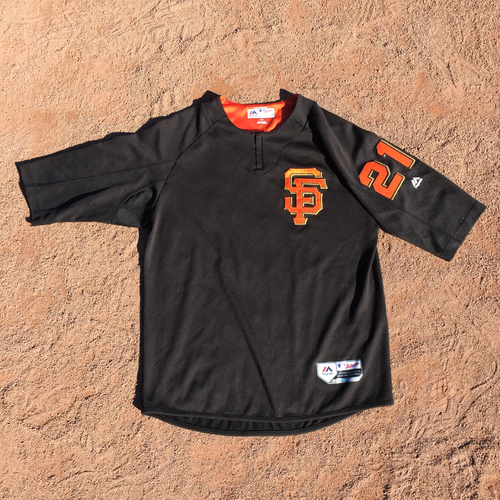 San Francisco Giants - 2017 Team-Issued Batting Practice Jersey #21 Conor Gillespie (Size: L)