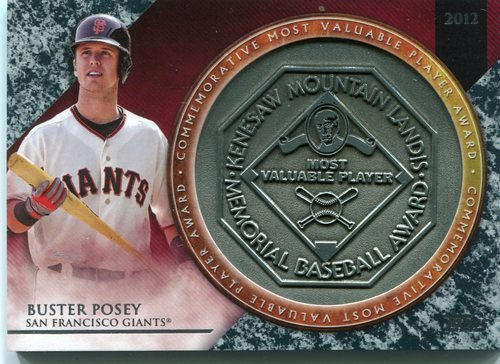 Photo of 2017 Topps Update MVP Award Relics #MVPRBP Buster Posey