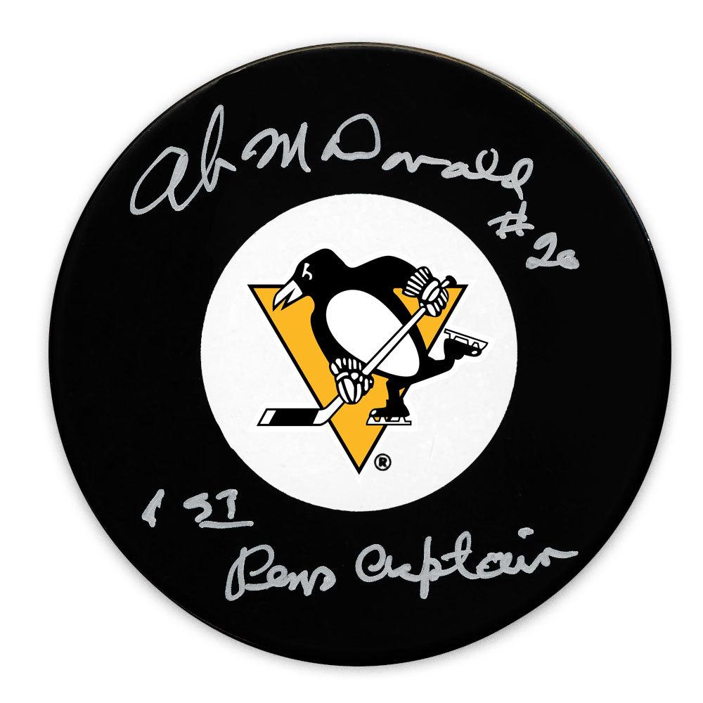 Ab McDonald Pittsburgh Penguins 1st Pens Captain Autographed Puck
