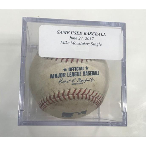Photo of Game-Used Baseball: Mike Moustakas Single