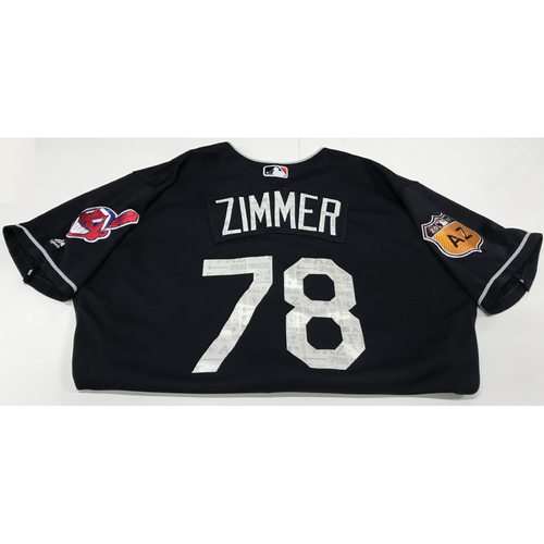 Photo of Bradley Zimmer 2017 Spring Training Jersey