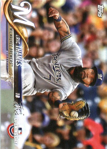 Photo of 2018 Topps Opening Day #172 Eric Thames