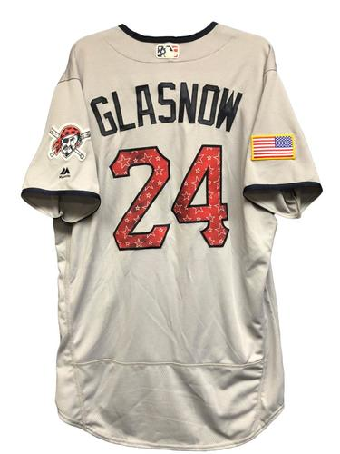 Photo of Tyler Glasnow Game-Used Stars & Stripes Jersey