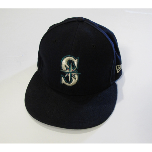 Photo of Seattle Mariners Felix Hernandez Team Issued 2017 Navy Cap