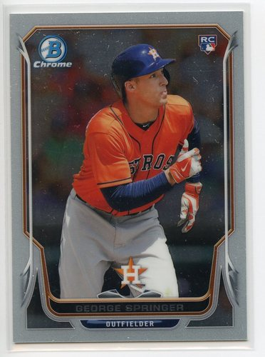 Photo of 2014 Bowman Chrome #29B George Springer 61/99 Pre-Rookie Card
