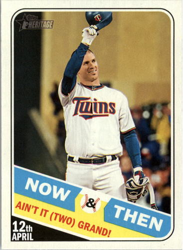 Photo of 2018 Topps Heritage Now and Then #NT2 Joe Mauer