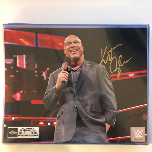 Photo of Kurt Angle SIGNED 8 x 10 Limited Edition WrestleMania Photo (Random Number)