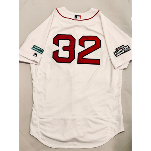 Photo of 2019 London Series - Game-Used Jersey - Matt Barnes, New York Yankees vs Boston Red Sox - 6/29/19