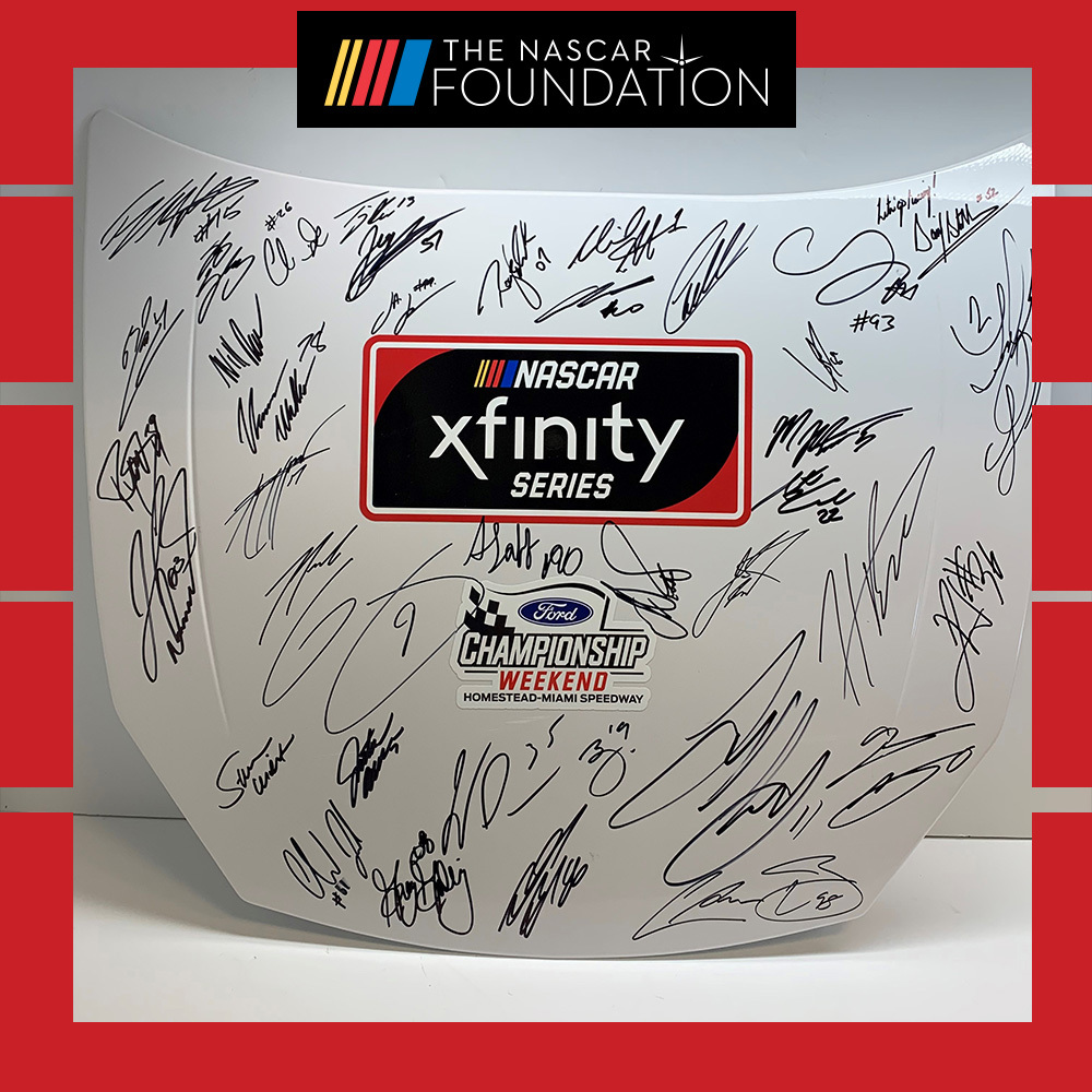 MENCS Autographed replica hood at Homestead-Miami Speedway!