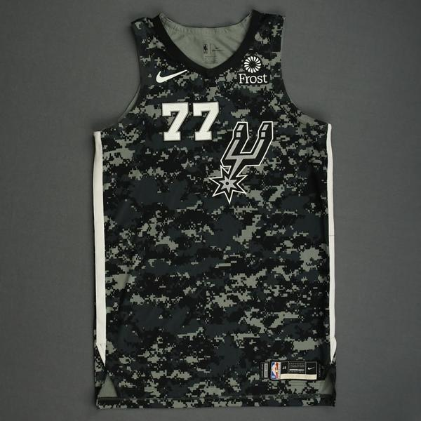 Image of DeMarre Carroll - San Antonio Spurs - Game-Worn City Edition Jersey - 2019-20 Season - Dressed, Did Not Play
