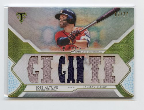 Photo of 2018 Topps Triple Threads Relics Silver  Jose Altuve