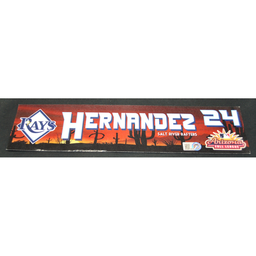 Photo of Arizona Fall League - Game-Used Locker Tag - Ronaldo Hernandez (TB), Jersey Number: 24
