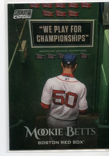 Photo of 2019 Stadium Club Chrome Refractors #SCC83 Mookie Betts