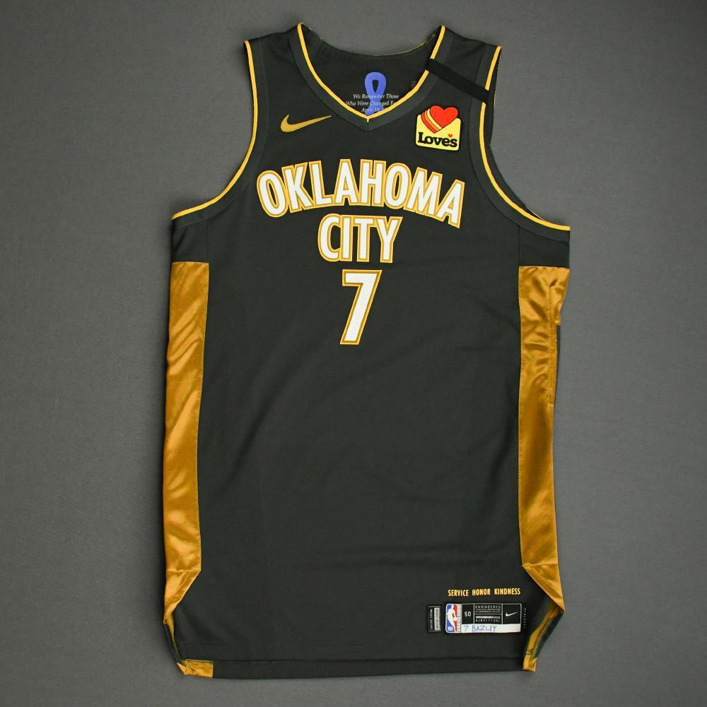 Darius Bazley - Oklahoma City Thunder - Game-Worn City Edition Jersey - 2019-20 Season