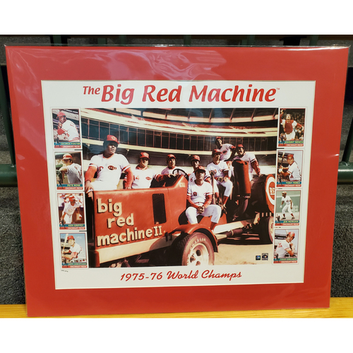 Big Red Machine Tractor Matted Print