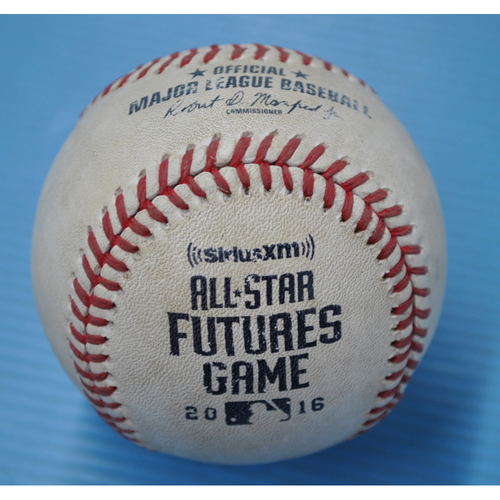 Photo of Game-Used Baseball - 2016 All-Star Futures Game - Pitcher: Nate Smith, Batter: Yoan Moncada - 6th Inning - Pitch in Dirt