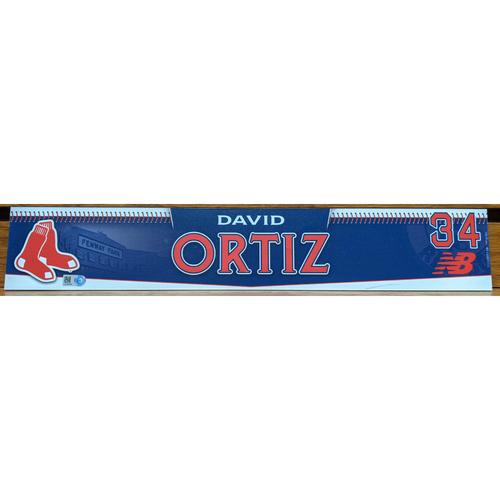 Photo of David Ortiz Team Issued Locker Tag