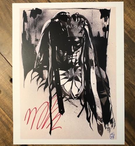 Photo of Finn Balor SIGNED Rob Schamberger 11 x 14 Art Print (Demon)
