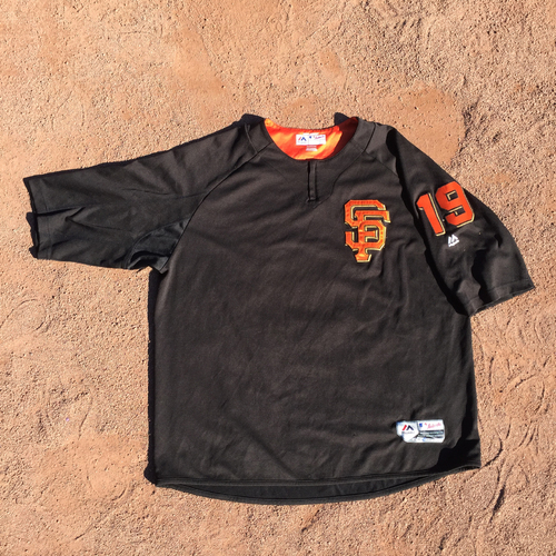 San Francisco Giants - 2017 Game-Used Batting Practice Jersey Worn by #19 Dave Righetti (Size: 2XL)