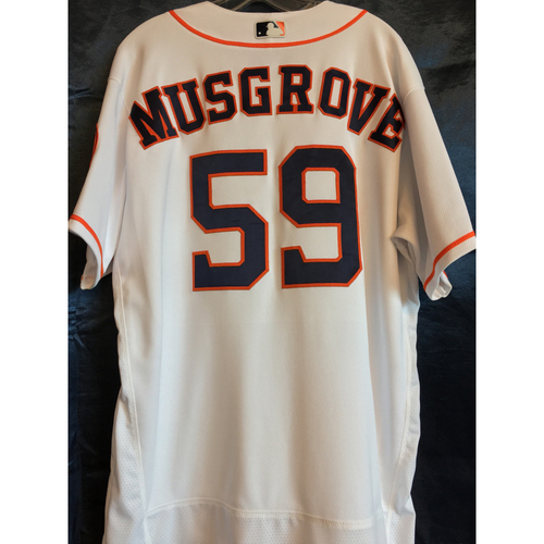 Photo of 2017 Los Astros game, Game-Used Musgrove Los Astros Home Jersey