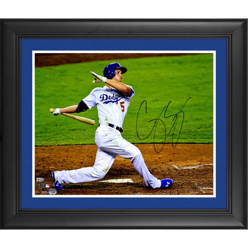 "Photo of Corey Seager Los Angeles Dodgers Framed Autographed 16"" x 20"" Photo"