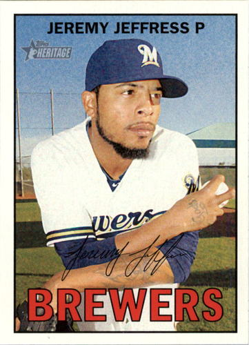 Photo of 2016 Topps Heritage #133 Jeremy Jeffress