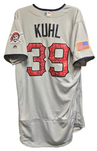 Photo of Chad Kuhl Team-Issued 2018 Stars and Stripes Jersey