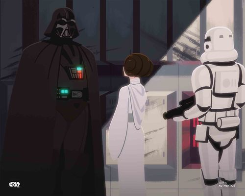 Darth Vader and Princess Leia Organa