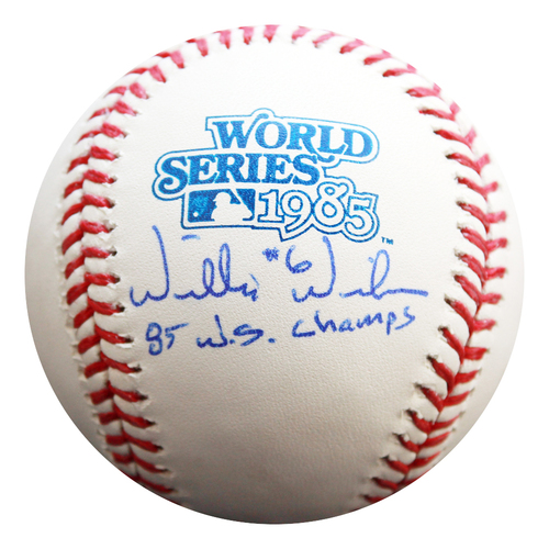 Photo of Autographed 1985 World Series Baseball: Willie Wilson