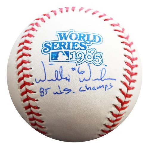 Photo of Autographed 1985 World Series Baseball: Willie Wilson