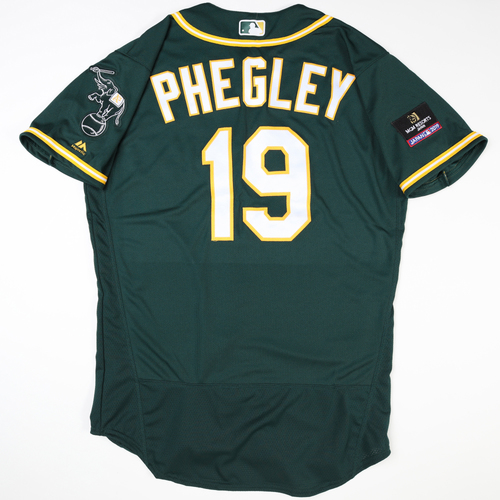 Photo of 2019 Japan Opening Day Series - Game Used Jersey - Josh Phegley, Oakland Athletics at Nippon Ham Fighters -3/17/2019