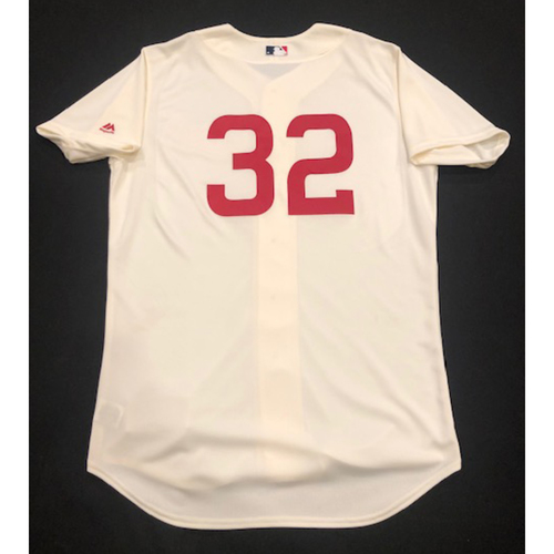 Photo of Zach Duke -- Game-Used 1936 Throwback Jersey -- Cubs vs. Reds on June 30, 2019 -- Jersey Size 46
