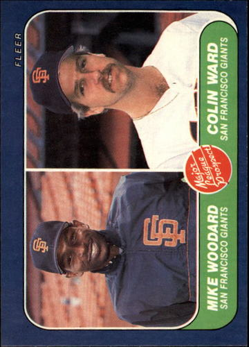 Photo of 1986 Fleer #645 M.Woodard/C.Ward RC