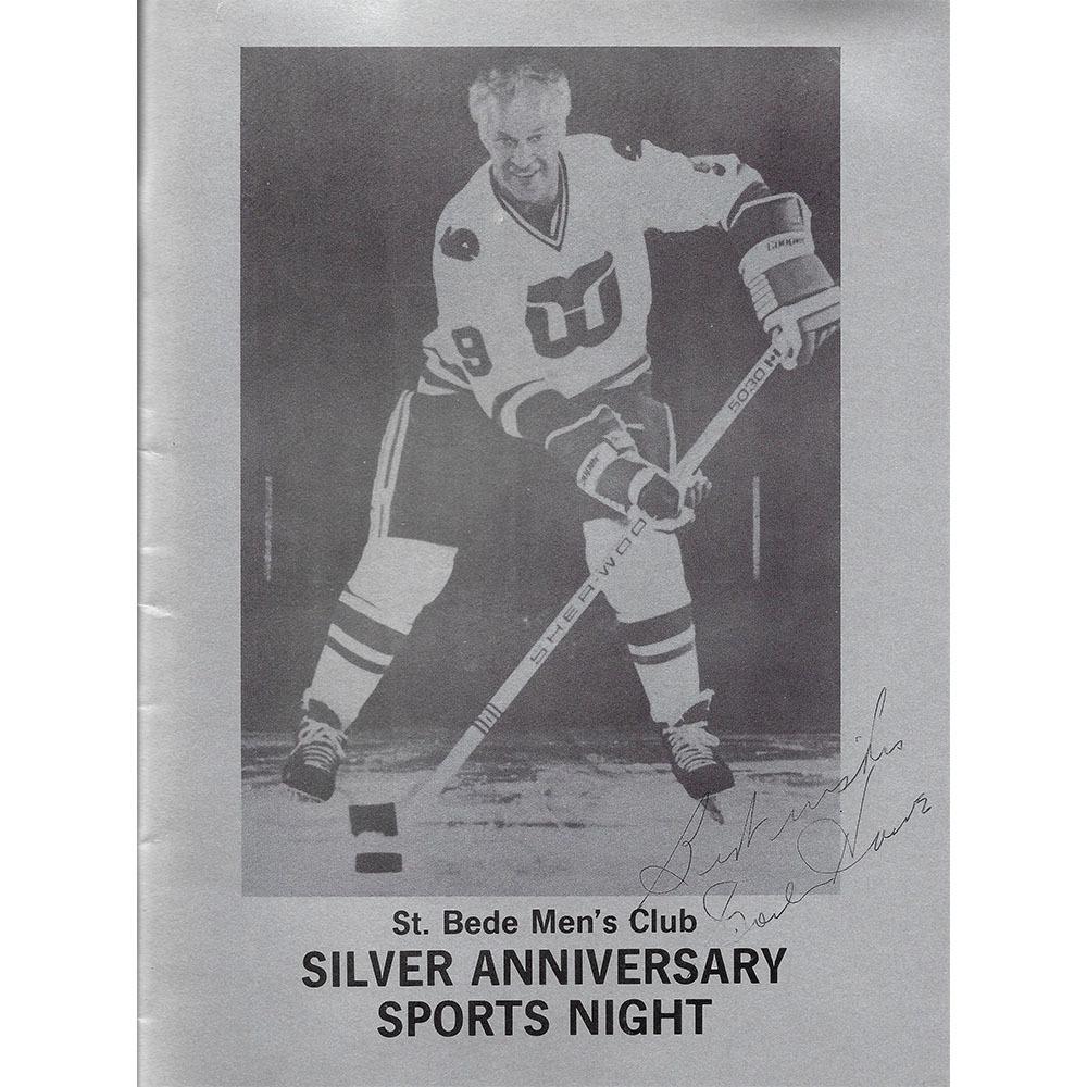 Gordie Howe Autographed St. Bede Men's Club Silver Anniversary Sports Night Program