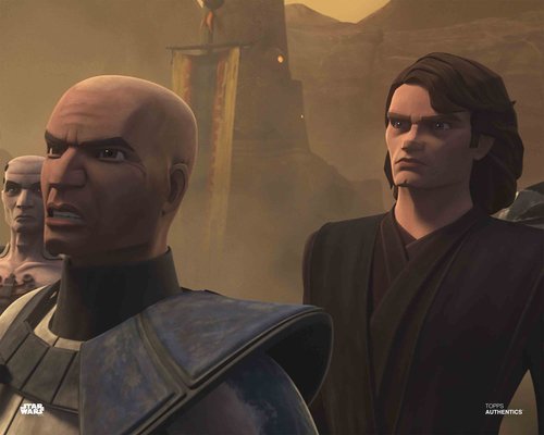 Anakin Skywalker and Captain Rex