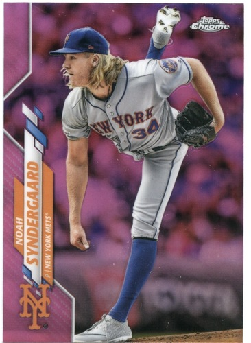 Photo of 2020 Topps Chrome Pink Refractors #58 Noah Syndergaard